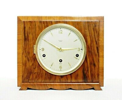 Elliott Art Deco Striking Mantel Clock Westminster/ Whittington Chimes, Serviced