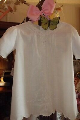 Vintage Madeira Baby Baptismal Gown Batitise Embroidered