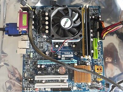4x Vintage motherboards / Gigabyte/ Nforce/AMD / Asus mid-late 2000s / core2duo