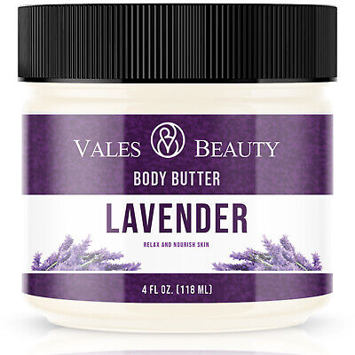 Lavender Body Butter With Organic Shea & Cocoa Butter For Skin Face Acne Scars