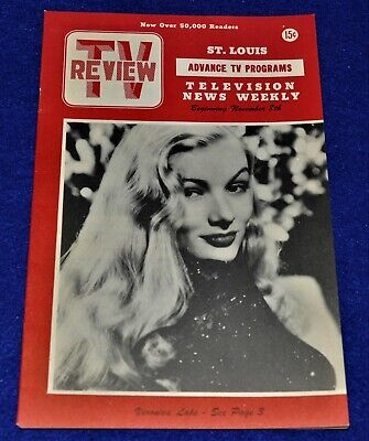 Veronica Lake Cover,TV Review Guide,1952