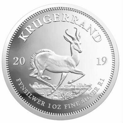 KRUGERRAND 2019 1 oz 1 Rand Pure Silver Proof Coin South Africa SEALED PLASTIC