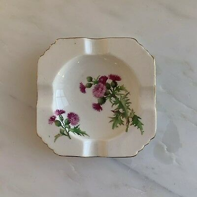 """ROYAL WINTON """"Scotch Thistle"""" Ashtray 4"""" Made in England"""