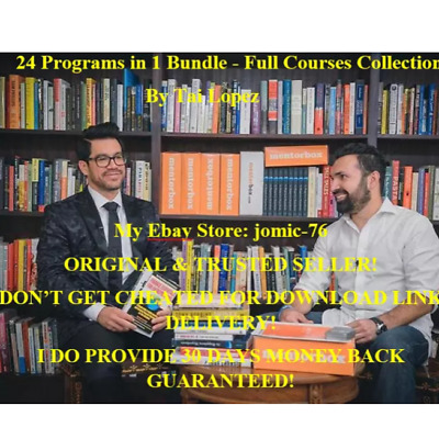 24 Programs in 1 Bundle - Full Courses Collection By Tai Lopez