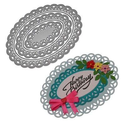 Oval Lace Cutting Dies Stencil DIY Scrapbooking Album Paper Card Craft Embossing