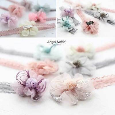 Cute Flower Lace Kid Baby Girl Toddler Headband Hair Band Headwear Accessories