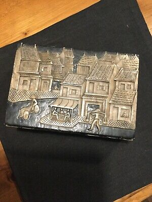 Fabulous Detailed Chinese Hard Stone Box Carved On All Sides In Relief