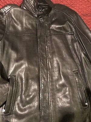 MARC NEW YORK ANDREW MARC L-3/4 LENGTH BRown SOFT PREMIUM  LEATHER JACKET Great
