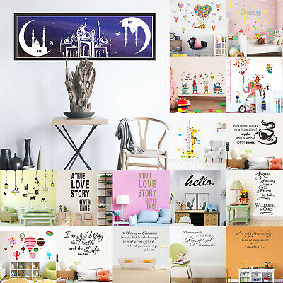 PVC Waterproof Self-Adhesive DIY Removable Decals Wall Sticker Home Wall Decor