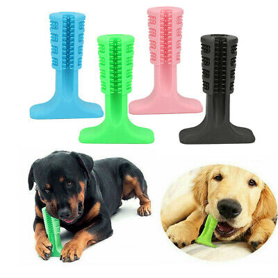 Silicone Pet Tooth Brush Dog Puppy Teeth Brushing Stick Toys Hygiene Oral Care
