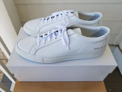 933563b3f89 NEW Men s Common Projects Achilles Low Leather Sneakers in White - 42 EU