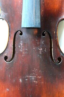 Antique 4/4 Violin for Restoration French? Unlabeled 1 Piece Back