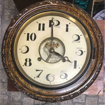 Antique Wall Clock Decor Home Decorative Japan Vintage Wooden Very Rare F/S