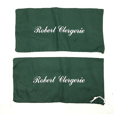 ROBERT CLERGERIE Lot of 2 Shoes Dust bags Green New