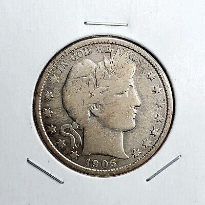 1905-O Barber Half Dollar - Great Looking Piece - Better Date - Tough