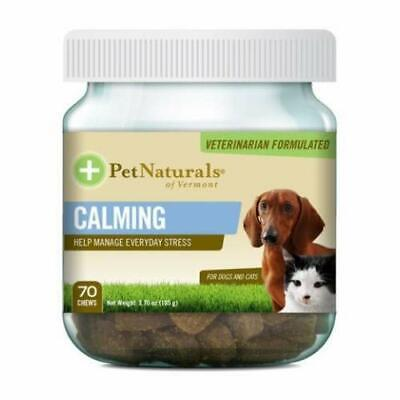 Pet Naturals of Vermont, Calming, For Dogs & Cats, 70 Chews, 3.70 oz (105 g)