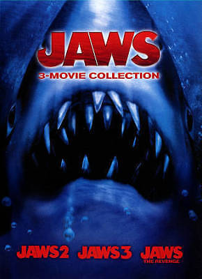 Jaws 3-Movie Collection (DVD, 2015, 2-Disc Set) Jaws 2, Jaws 3, Jaws the revenge