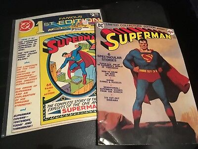 Superman DC Lot Famous First Editions and Limited Collectors Edition Vintage Bro