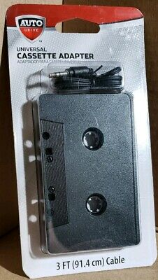 Auto Drive Universal Cassette Adapter - New and Sealed - Fast Free Shipping