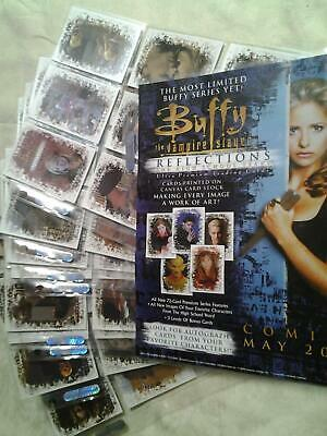 Trading Cards - BUFFY - Reflections set - 2000 - MINT - 72 cards + Promo sheet