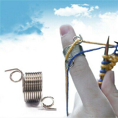 Finger Thimble Yarn Needle Guide Braided Knitting Ring Tool Sewing Accessories @