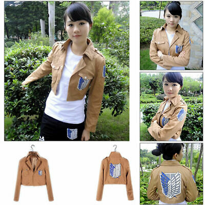 HOT Anime Shingeki No Kyojin Attack on Titan Jacket Coat Uniform Cosplay Costume