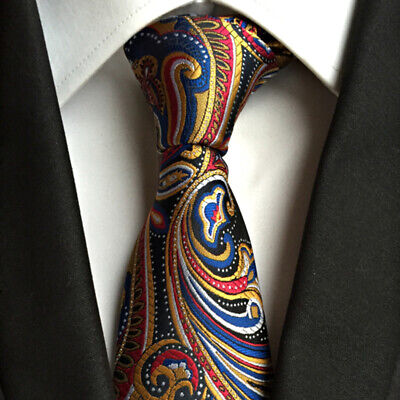 Men Colorful Elegant Fashion Necktie Jacquard Paisley Party Silk Tie