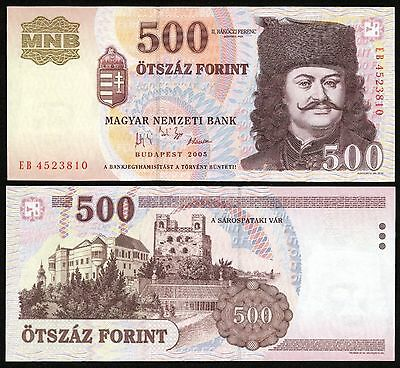 Hungary 500 Forint 2005 paper banknote P#188 Magyar Ungarn UNC