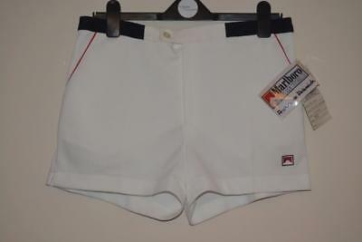 Marlboro Leisure Wear Andrea De Adamich White Tennis Shorts With Tags Size 50