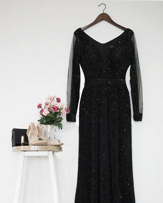 Ever-Pretty US Long Celebrity Dresses V-Neck Glitter Formal Evening Gown  07394 eee6a19e1