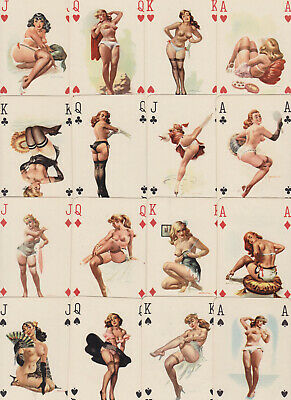 """E3 Vintage 1960s """"Darling"""" Pin-up Playing cards"""