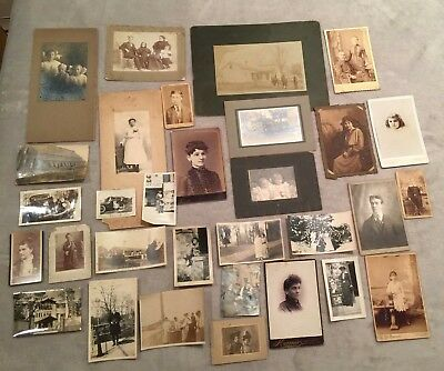 Antique Photo Lot. Late 1800's  Early 1900's
