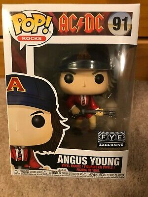 Funko Pop Rocks Angus Young *Fye Exclusive* #91 ACDC Presale With Pop Protector