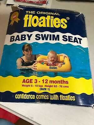 Floaties Baby Swim Seat Age 3-12 Months Bright Yellow