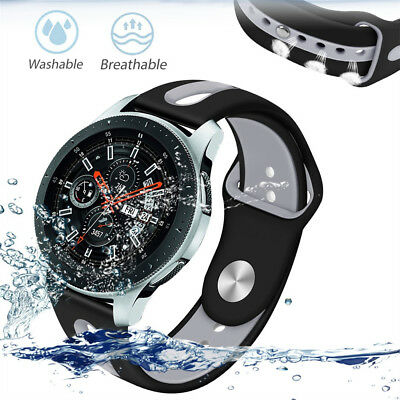 Breathable TPU Soft Silicone Strap Wristband Band For Samsung Galaxy Watch 46mm