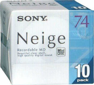 Sony 10 disc pack 10MDW74NED Mini Disc Neige Series 74min Blank MD Japan new