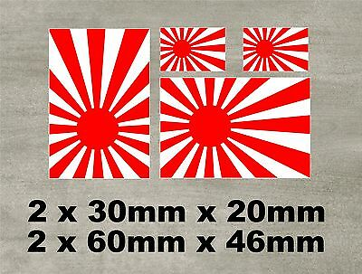JAPANESE RISING SUN FLAG JDM  CAR STICKERS Decals Graphics