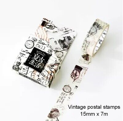 Japan Washi Tape - Vintage Postal Stamp Ink Bottle 15mm x 7m  MT341