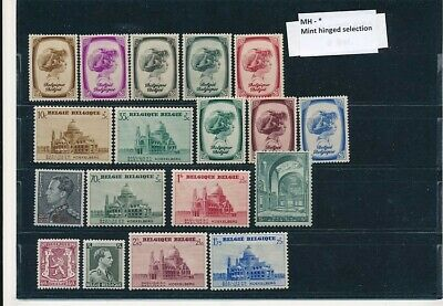 D247628 Belgium Nice selection of MH stamps