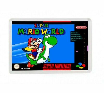 Super Mario World Super Nintendo Fridge Magnet Iman Nevera