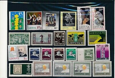 D247641 Lithuania Nice selection of MNH stamps