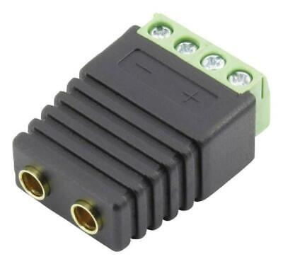Double Banana Socket to 4-Way Terminal Block Adaptor - CLEVER LITTLE BOX