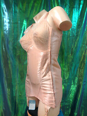 D21 Original Vintage 1950s Berlei All-in-one OB Pink Satin Corselet NWT