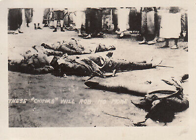 Original Pre-WWII Photo CHINESE BEHEADING EXECUTION 1930's Shanghai China 16