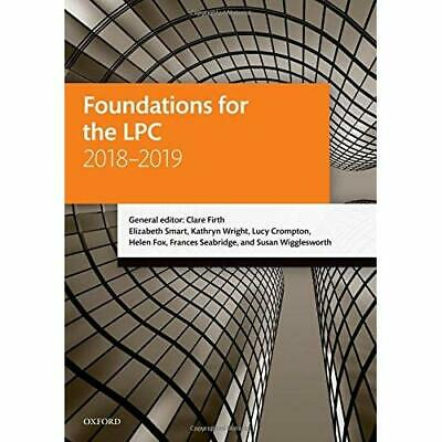 Foundations for the LPC 2018-2019 (Legal Practice Cours - Paperback NEW Firth, C