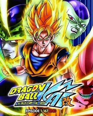 Anime DVD Dragon Ball Kai Vol.1-167 End English Dubbed Free Shipping