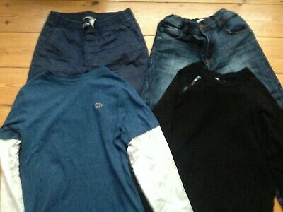 Boys clothes bundle age 10-11 years - 2 trousers, 2 long sleeved tops :-)
