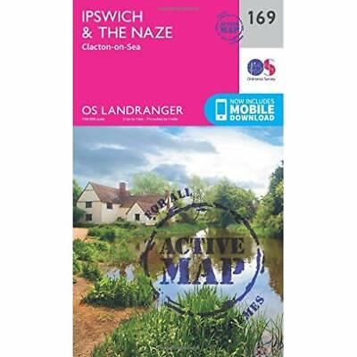 Ipswich, the Naze & Clacton-on-Sea (OS Landranger Map) - Sheet map, folded NEW S