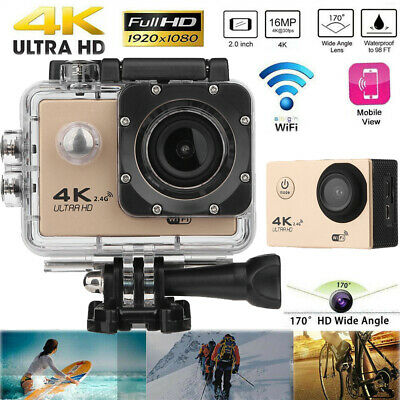 F60R 2'' Wifi 4K HD 1080P Sport Remote Action Camera DVR DV Camcorder Waterproof