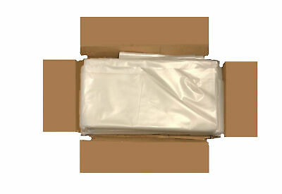 100 Strong Heavy Duty Clear Plastic Rubble Bags/Sacks Builders Bags 200-500G
